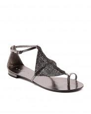 LOLA CRUZ 135Z silver sandals