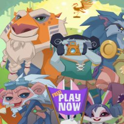 Image result for animal jam old home screen liza taking a picture