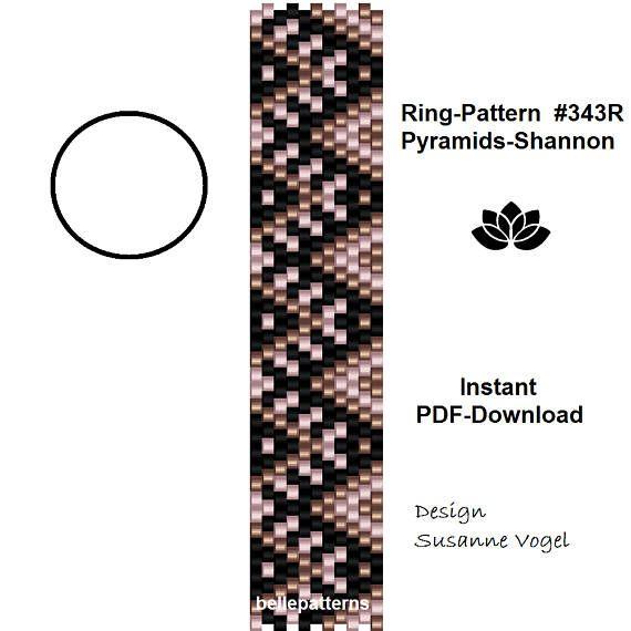 peyote ring patternPDF-Download instant downloadring 343R