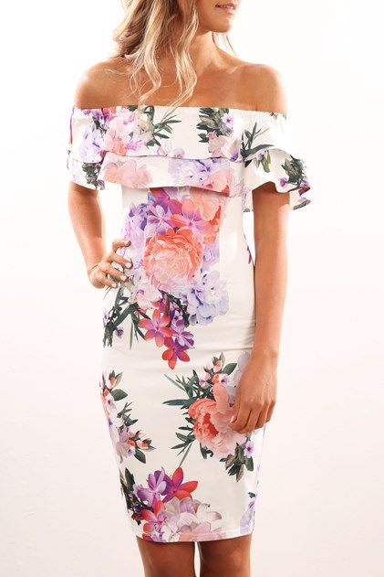 Sierra Dress White Floral