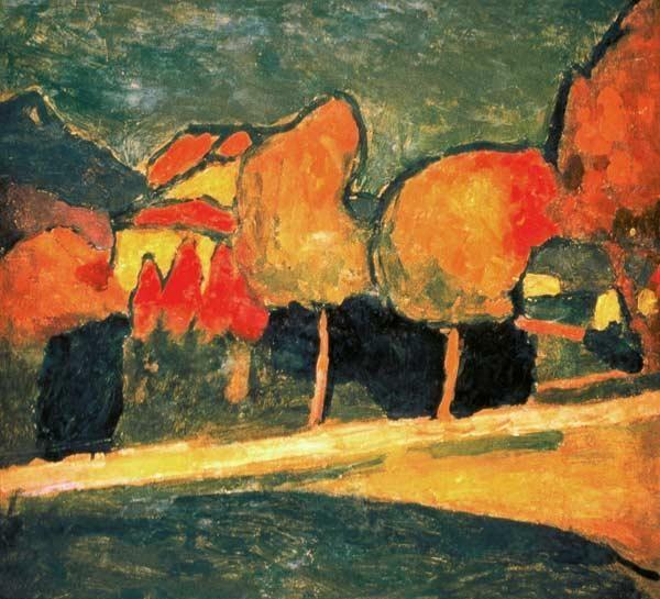 """""""Alexej von Jawlensky 'Murnauer Landschaft', 1907. """""""