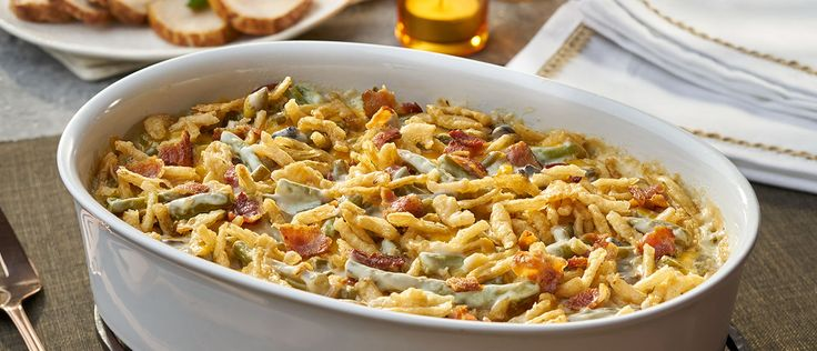 Everything's better with bacon… and cheese. Make your favorite green bean casserole even better, just by adding these two ingredients. And no need to wait for a holiday to make this one - any day of the week will work!