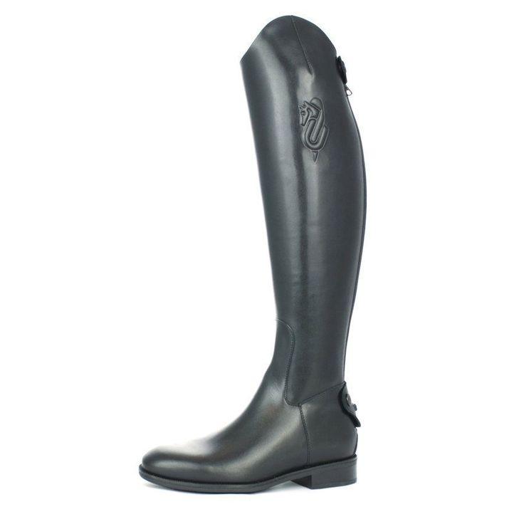 Stivali da concorso per equitazione in cuoio senza lacci Umbria Equitazione.