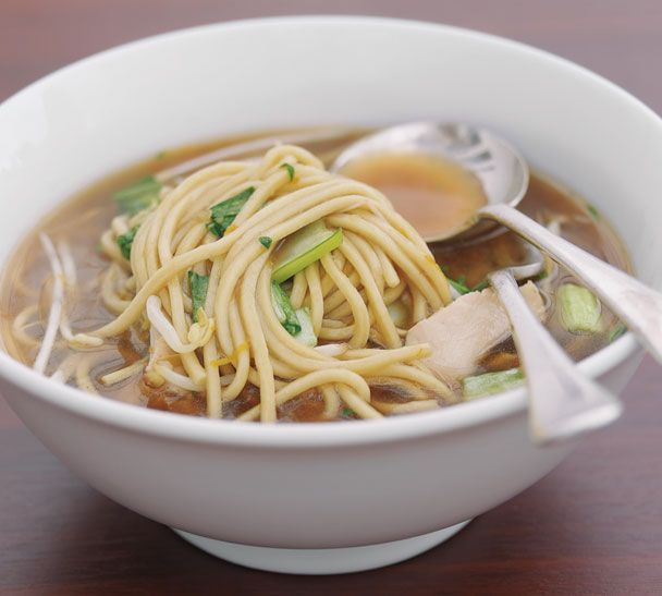 #RecipeOfTheWeek Is there anything more comforting and nourishing than a bowl of chicken noodle soup? A sure cure for trans-seasonal colds and sniffles. Make it for someone you love - you'll find the recipe here http://www.annabel-langbein.com/recipes/miso-chicken--noodle-bowl/137/