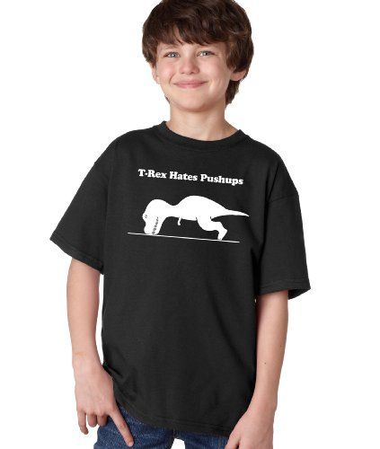 T-REX CANT DO PUSH-UPS Youth Unisex T-shirt / Funny Work Out Cross Fit Crossfit Pushups Fitness Shirt