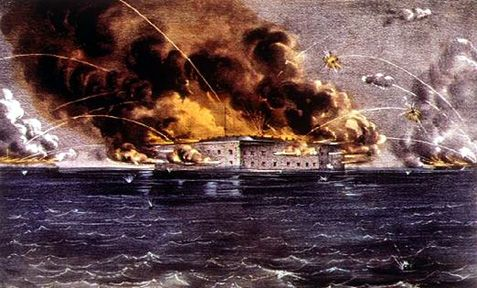Battle Of Fort Sumter- On April 12, 1861, General P.G.T. Beauregard, commander of the Confederate Soldiers near Charleston Harbor, attacked the Union army at  Fort Sumter in South Carolina. At 2:30pm on April 13 Major Robert Anderson, union commander, surrendered the fort to Beauregard. Anderson and his troops evacuated the next day.