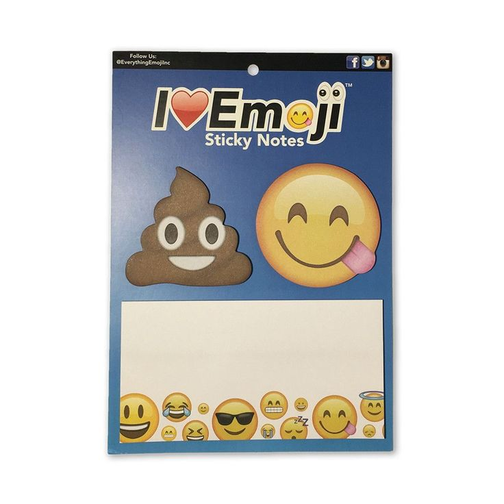 Sticky Notepads 3 Pack (White) These Emoji sticky notepads are great for jotting down phone messages, leaving memos, flagging important documents or marking book pages, writing down your daily to-do l