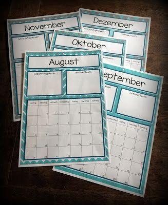Endlich Pause 2.0: Kalender