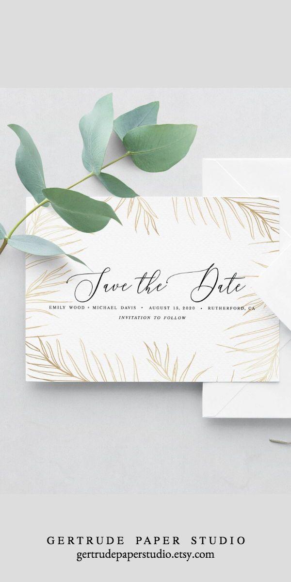 Tropical Black And Grey Destination Wedding Template Wedding Invitation Collection DIY Wedding Invitation Instant Download