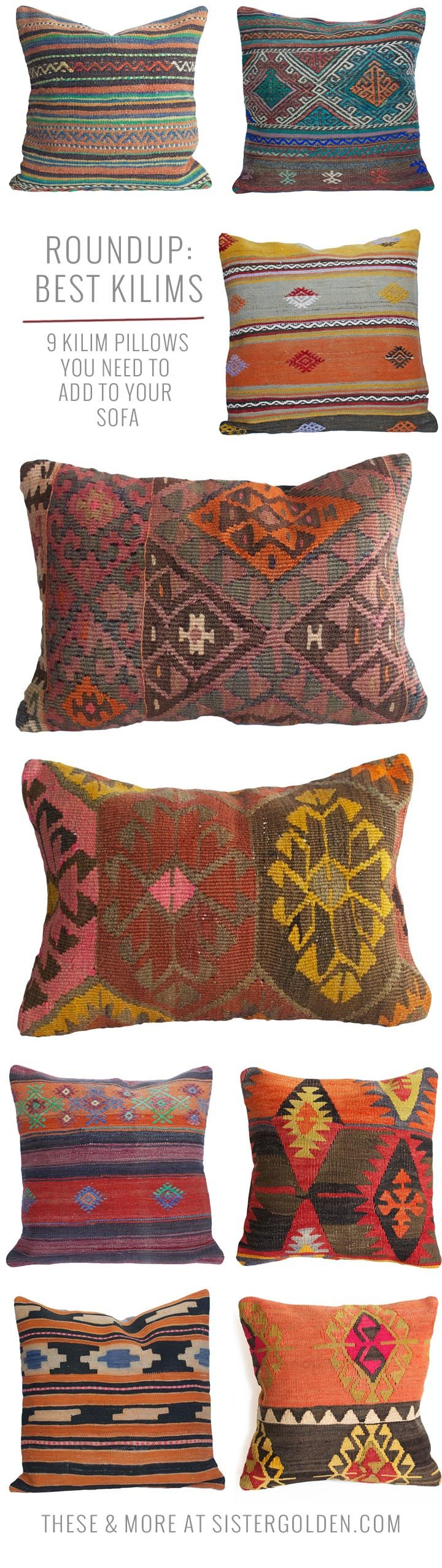 9 Kilim pillows you need to add to your sofa!