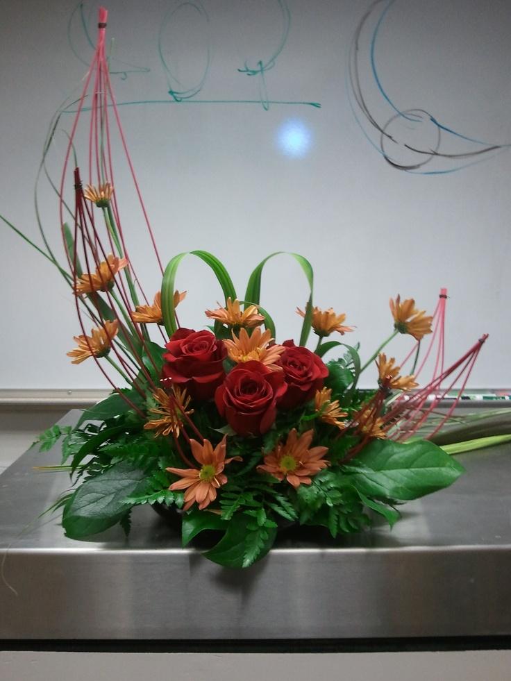 Crescent shaped arrangement floral design ii pinterest for Japanese flower arranging crossword clue