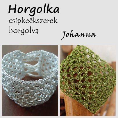 Johanna - fémszálas horgolt karkötő