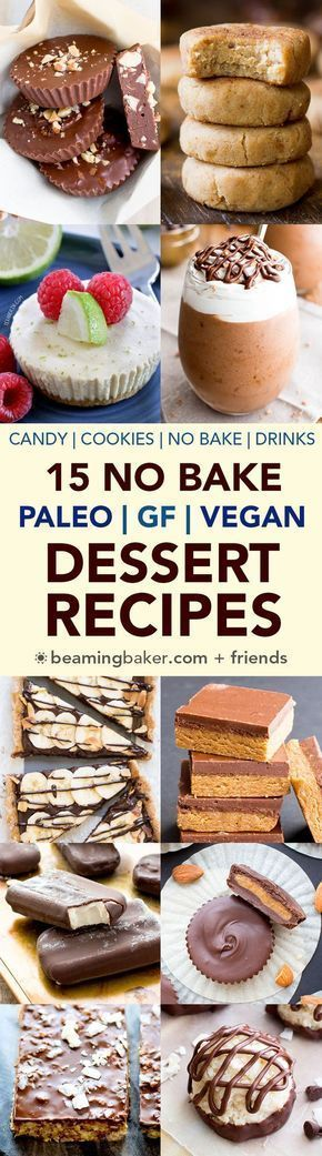 15 No Bake Paleo Vegan Desserts: a roundup of easy, delicious paleo vegan recipes that are delightfully no bake.