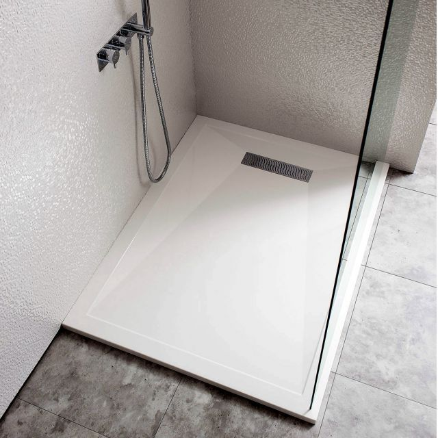 Crosswater Simpsons 25mm Stone Resin Shower Tray With Linear Waste Shower Tray Shower Stall Shower Tray Ideas