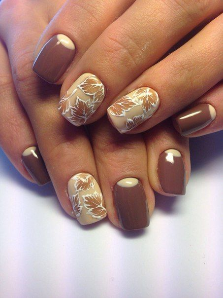 Ногти дизайн фото осень