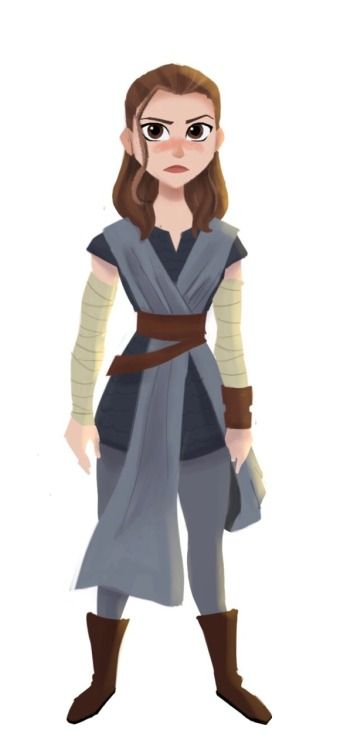 """""""Rey"""" from The Last Jedi<<< I love this fanart! Wish I knew who the artist is."""