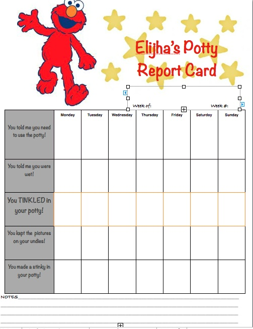 Elmo Potty Training Chart  BesikEightyCo