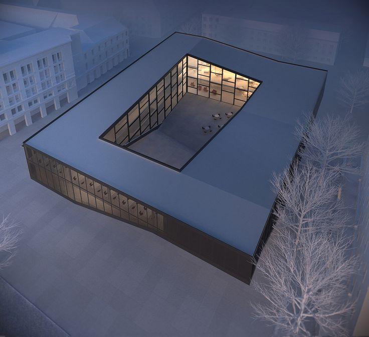 Le Quarter Cultural Center est situé à Gdansk, en Pologne. Mikolai Adamus propose une forme urbaine à patio, permettant de créer un espace public autour duquel se structurent les différentes fonctions du centre culturel. Ce volume parallélépipédique s'appui...