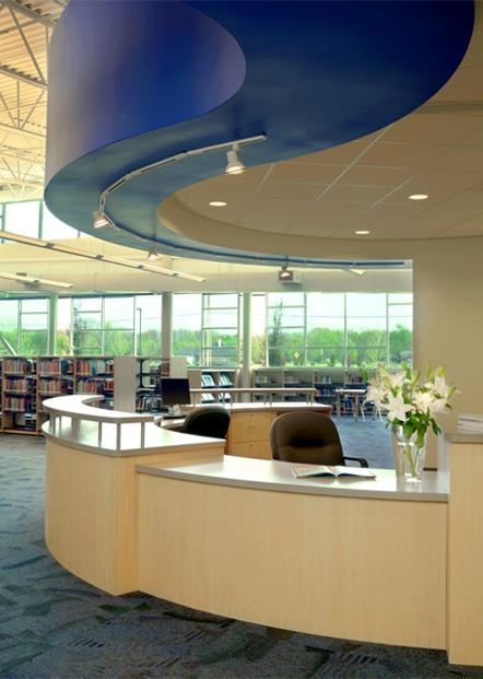 circulation desk idea like the paint above library designlibrary - Library Circulation Desk Design