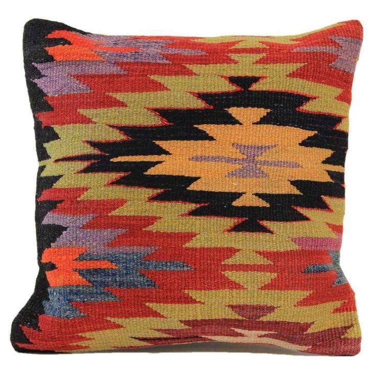 "Handmade Kilim Pillow Cover 16""x16"" (1206)"