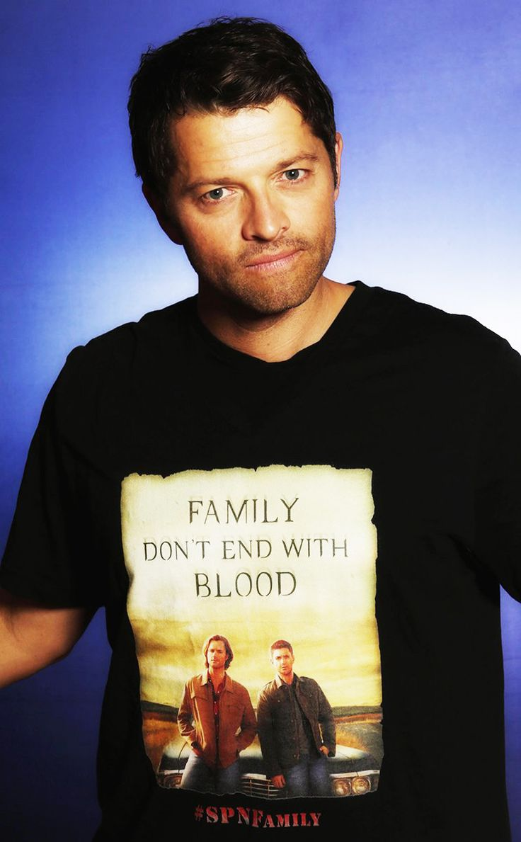 Misha promoting 'Family don't end with blood'.