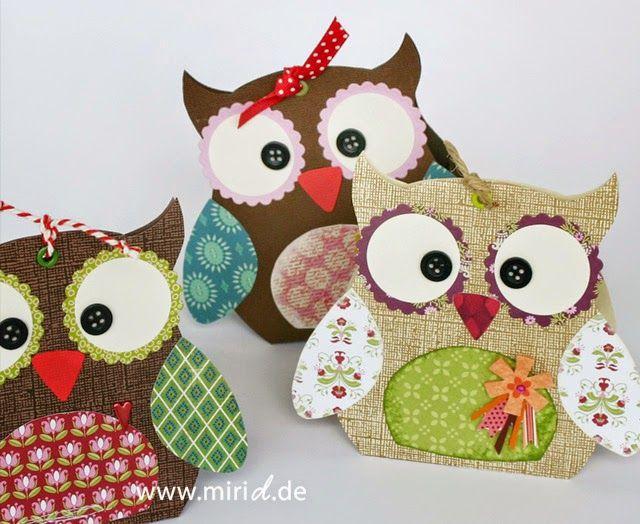 www.miriD.de: Geschenkschachtel: Eule Sophia