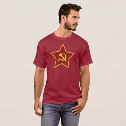 Red Star Hammer and Sickle Dark Men's T-Shirt - red gifts color style cyo diy personalize unique