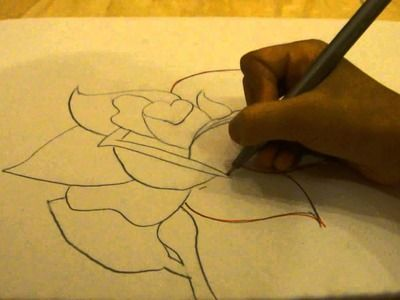 how to draw a realistic red rose