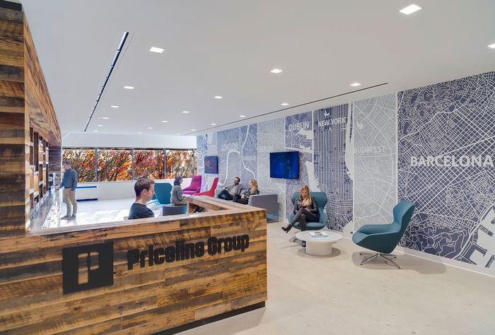 Ginkgo Lounge High Back chair from Davis Furniture in the Priceline Group offices - designed by TPG Architecture