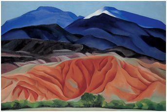 Georgia O'Keefe, Blue Mesa Landscape - Georgia O'Keefe Museum, Santa Fe