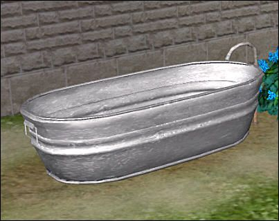 Hillbilly Tin Bath For The Sims 2 (TS2)