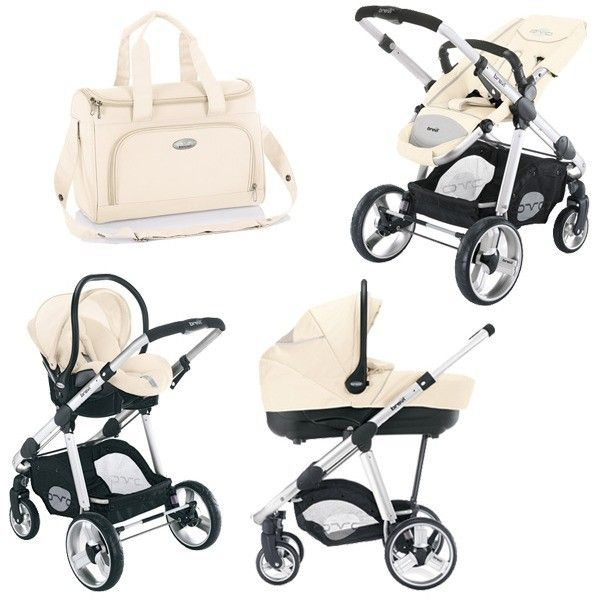 Brevi Ovo 3 in 1 Pram Hard Shell Carrycot beige - Collection 2014