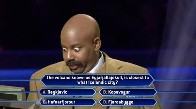 The toughest question on Who Wants to be a Millionaire. hahaha