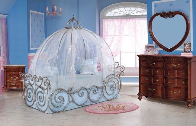 Disney Princess Cherry 4 Piece Carriage Bed Bedroom Set  #Disney