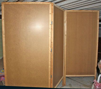 Large Exhibition Display Trifold 3 Panel Pegboard Exhibits