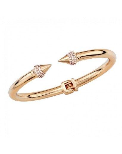 Mini Titan Crystal Bracelet in Rose Gold with Champagne Crystals #VitaFede #Swarovski