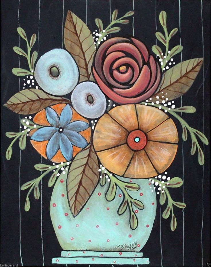 Vase with flowers, Karla Gerard