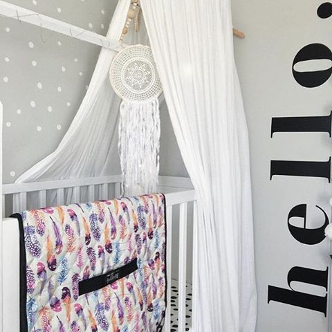 Loved that my Boho Swaggie appeared in my favourite little nursery last night!! Always grateful when my products are in the firing line of @luxebabylove 's lens!! 📷 xox