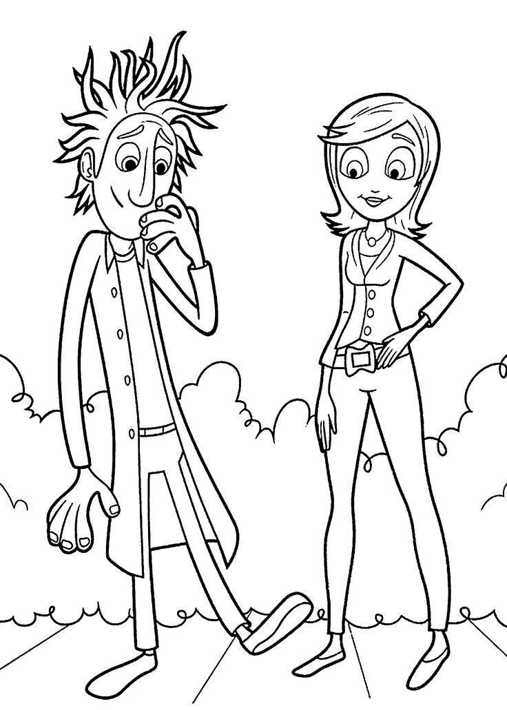 Cloudy with a Chance of Meatballs coloring pages for kids, printable free
