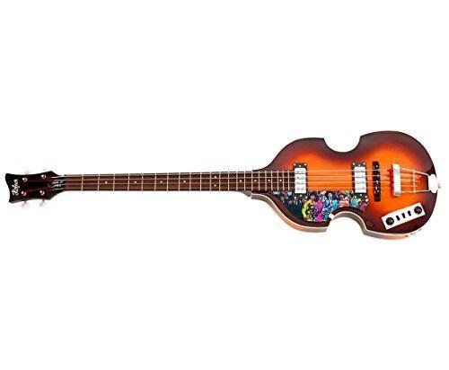 #MusicalInstruments Beatles Paul McCartney Autographed Sgt Peppers Album Hofner Bass Guitar AFTAL UA
