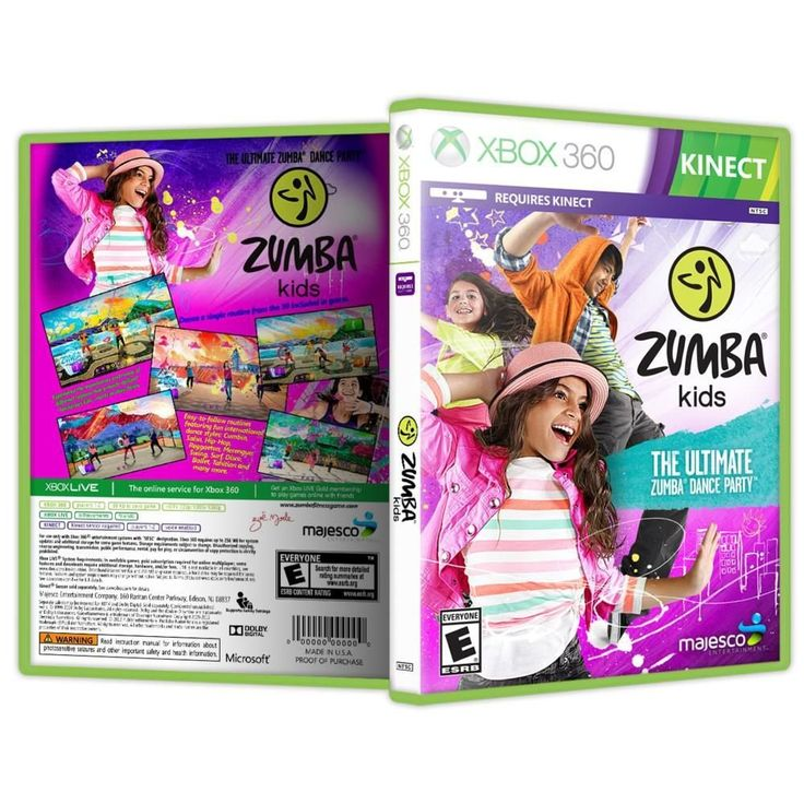 Game Zumba Kids Maj - DVD KINECT XBOX 360