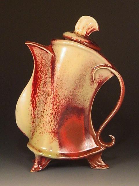 Pottery Carolina, Handmade/Hand Made Pottery in North Carolina Pottery by David Bellar.  Gorgeous, creative teapots - I want to pin them all!