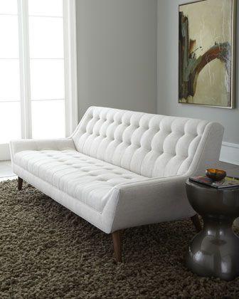"""Malibu"" Sofa by Jonathan Adler at Horchow.: Living Rooms, Modern Sofa, Adler Malibu, White Sofas, Malibu Sofas, Adler Whitak, Mid Century, Jonathan Adler, White Furniture"