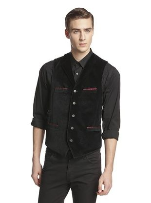 66% OFF Robert Graham Men's Westminister Embossed Velvet Vest (Black)