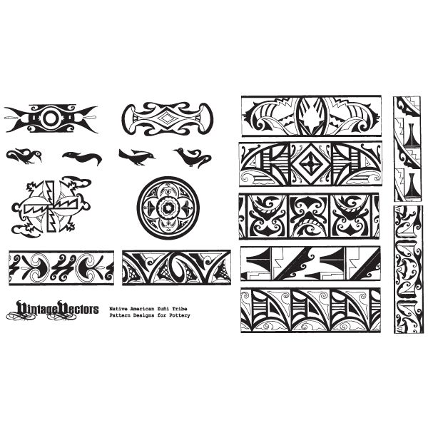 Native American Patterns from Pottery Designs