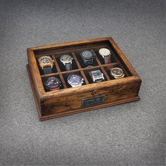 Uhren Sie Box für Männer Uhrenbox Uhrengehäuse Herren