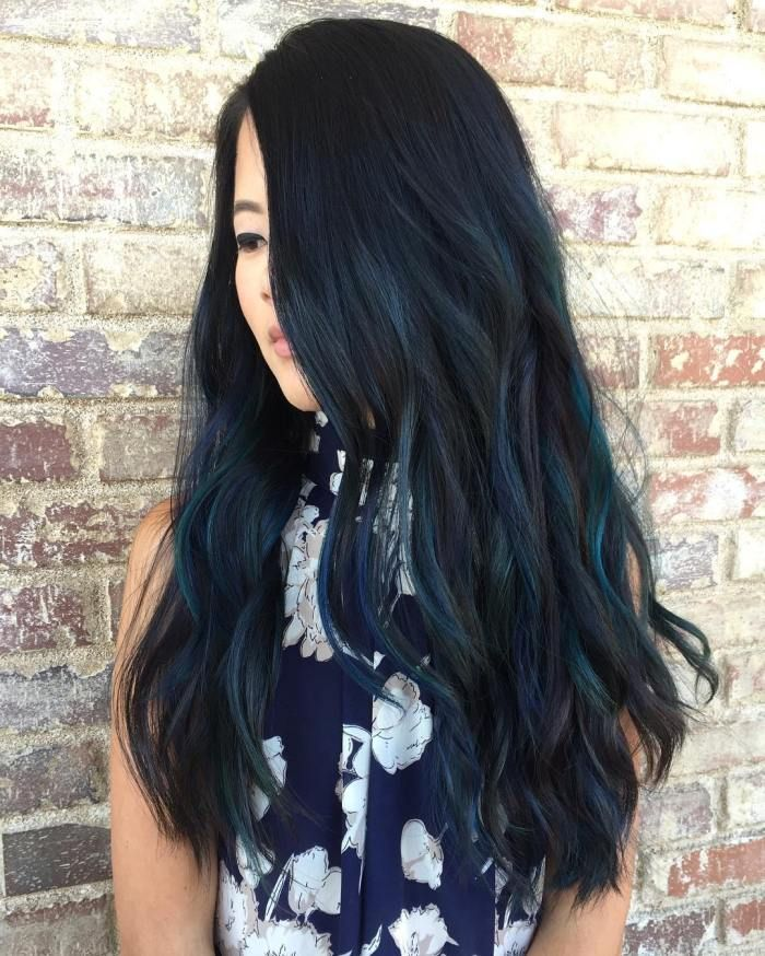Blue Black Hair How To Get It Right Blue Black Hair Blue Black Hair Color Black Hair Dye