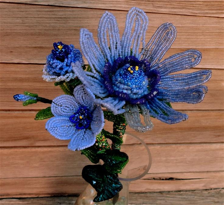 532 best beaded flower images on Pinterest | Beading, French ...