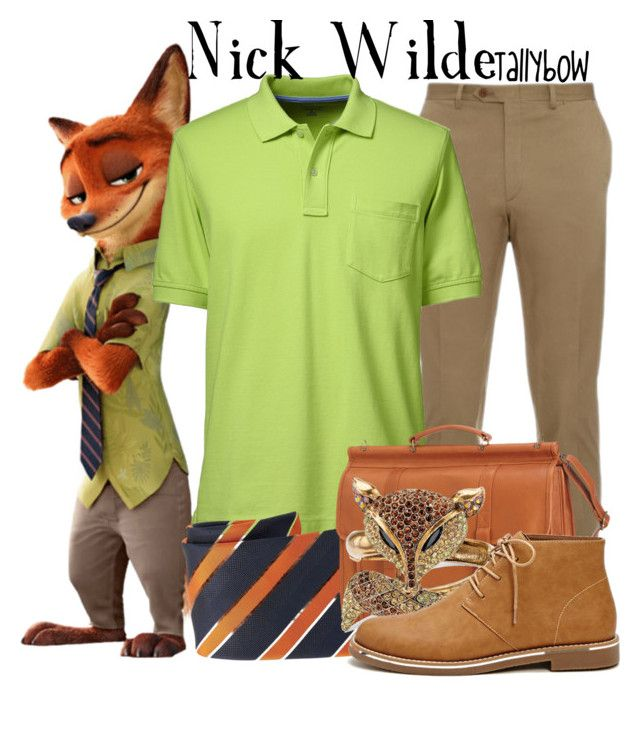 """Nick Wilde"" by tallybow ❤ liked on Polyvore featuring Brioni, Lands' End, HUGO, Le Donne, Palm Beach Jewelry, Forever 21, men's fashion and menswear"