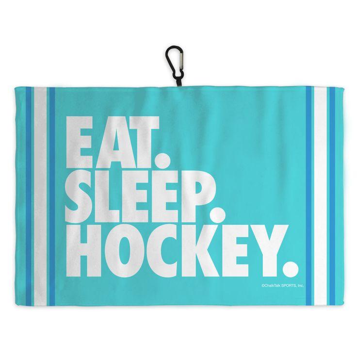 Hockey Skate Towel Eat Sleep Hockey Player Gifts